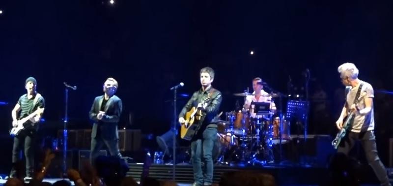 Koncerto Londone metu prie grupės U2 prisijungė Noelis Gallagheris (+ video)