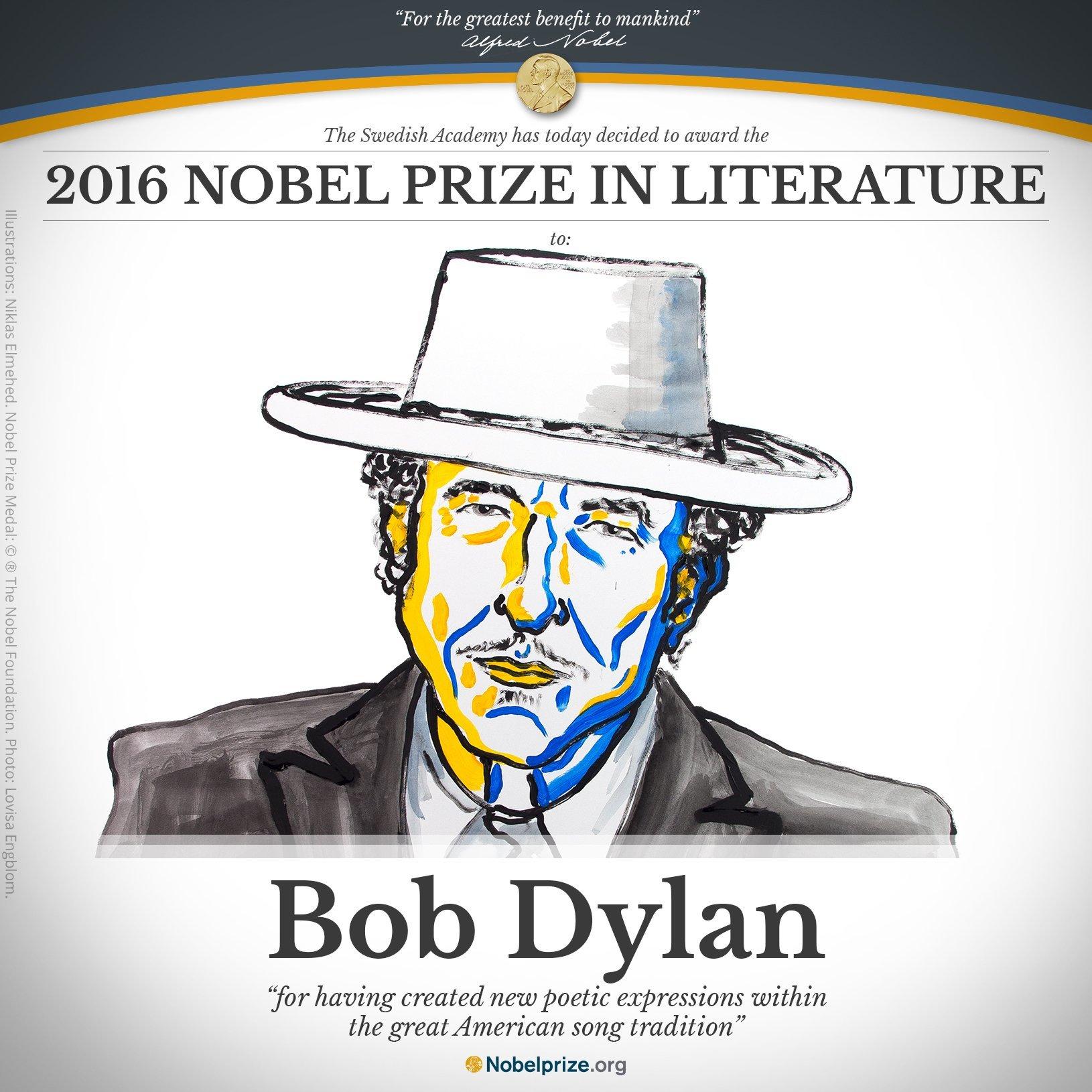 Literatūros Nobelis – Bobui Dylanui