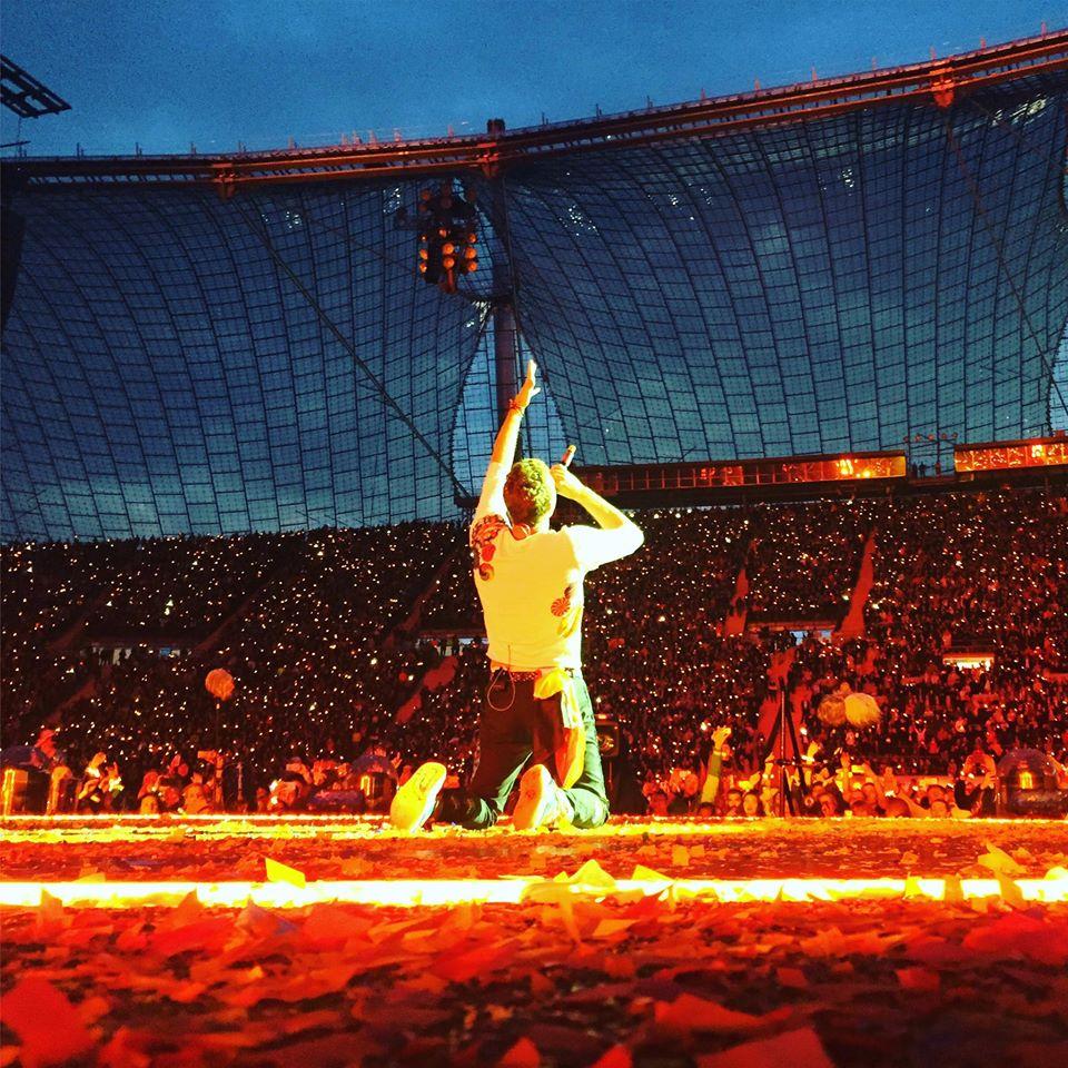 Coldplay koncerte Miunchene – netikėtas grupės gerbėjo pasirodymas