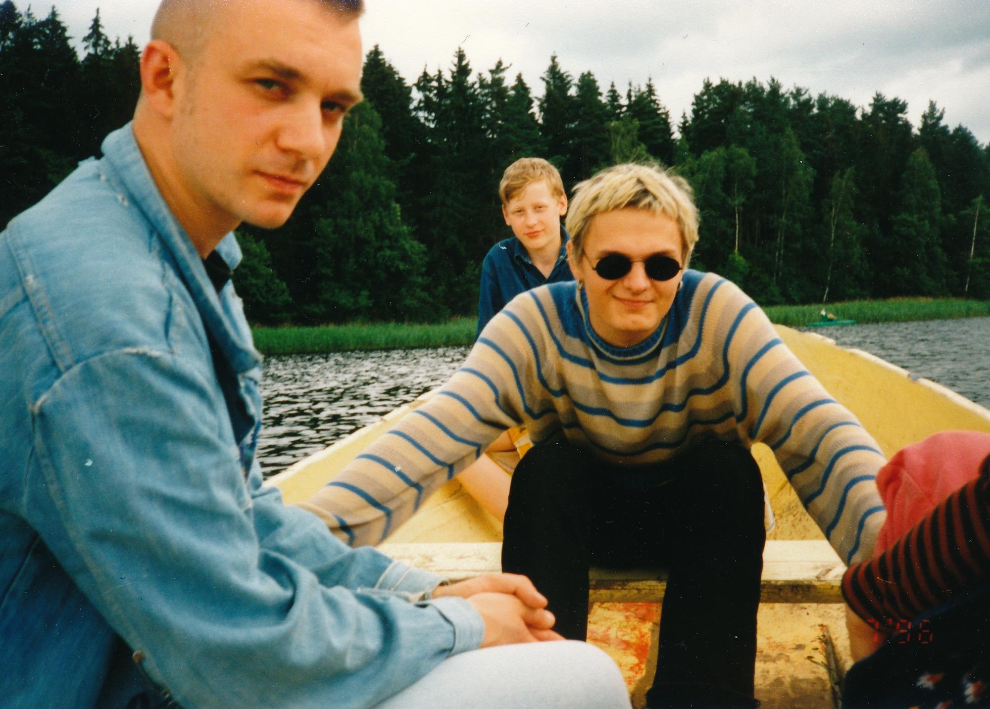 1996 m. Su Igoriu irstomės po ežerą netoli Dusetų