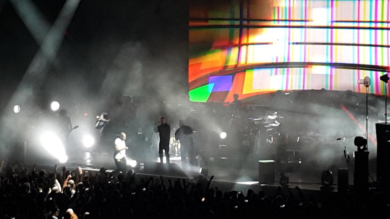 """Akimirka iš """"Gorillaz"""" pasirodymo Budapešte (nuotr. Vaidas Stackevičius)"""