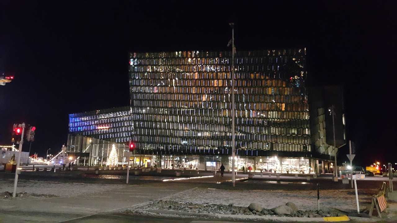 """Koncertų ir konferencijų salė """"Harpa"""" Islandijoje (nuotr. Vaidas Stackevičius)"""