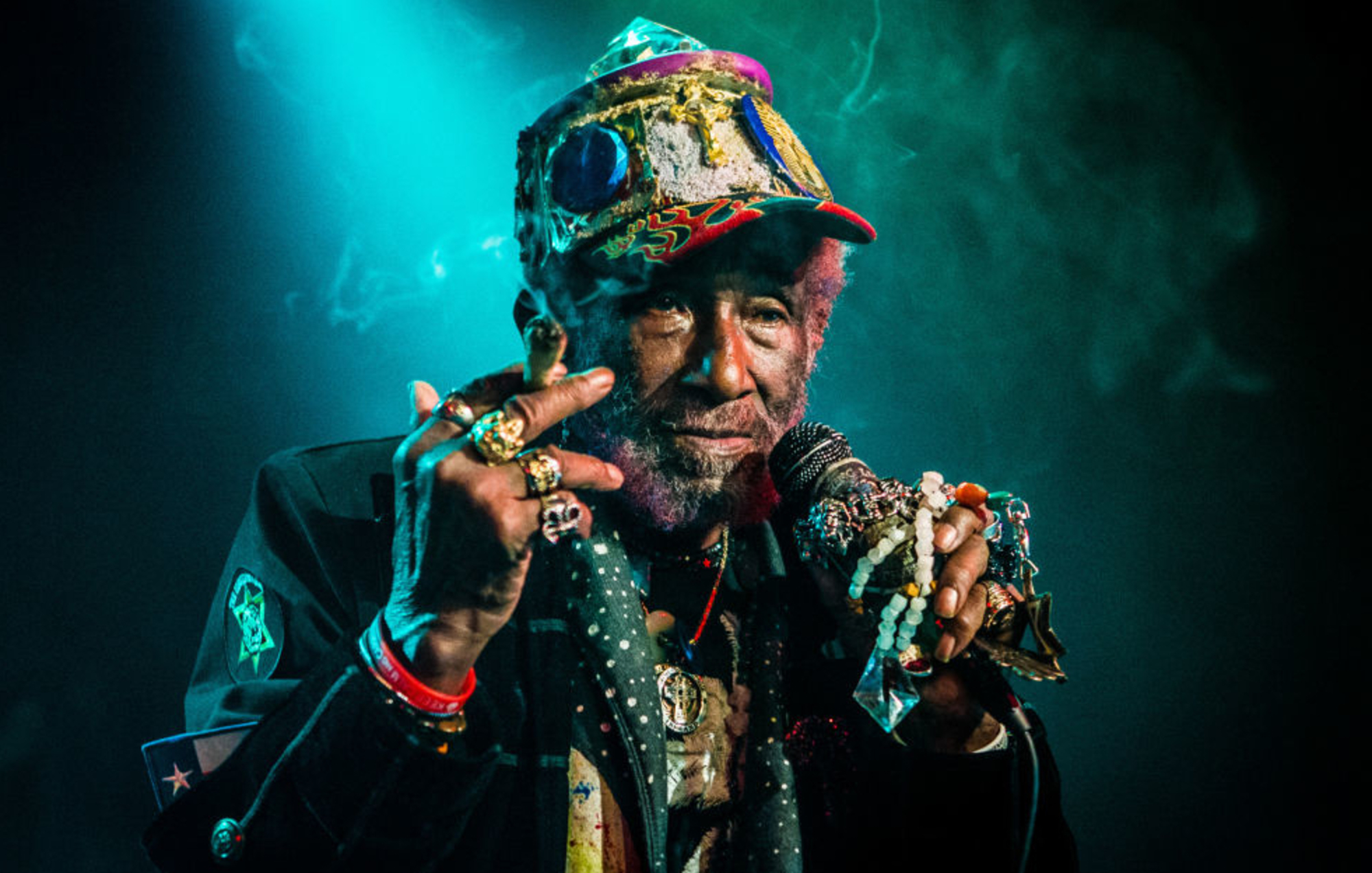 "Mirė reggae ir dub muzikos legenda Lee ""Scratch"" Perry"