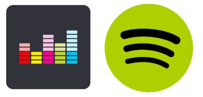 Spotify and Deezer