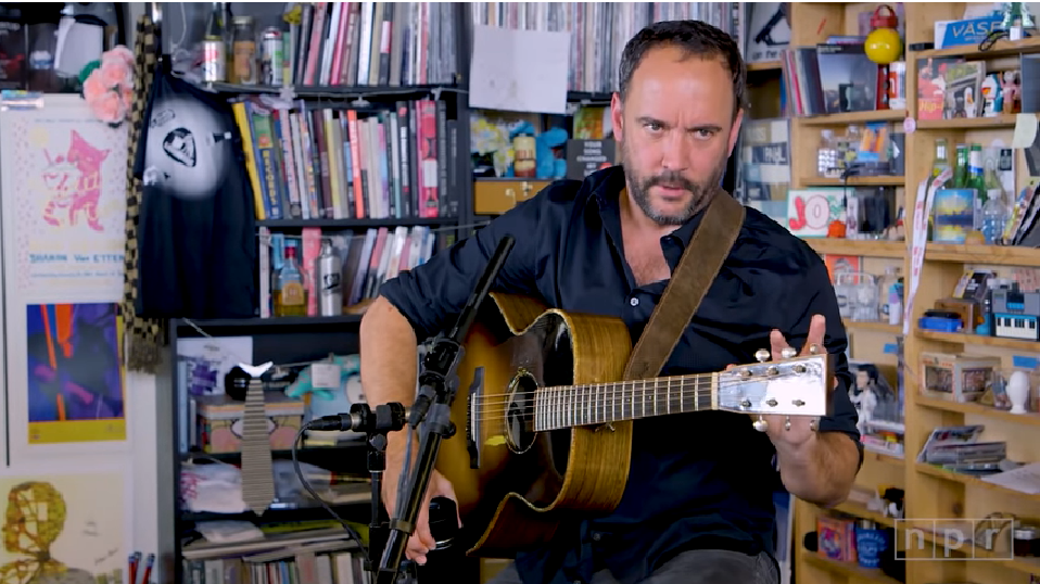 Dave Matthews gyvai: sudalyvavo akustinėje solo sesijoje