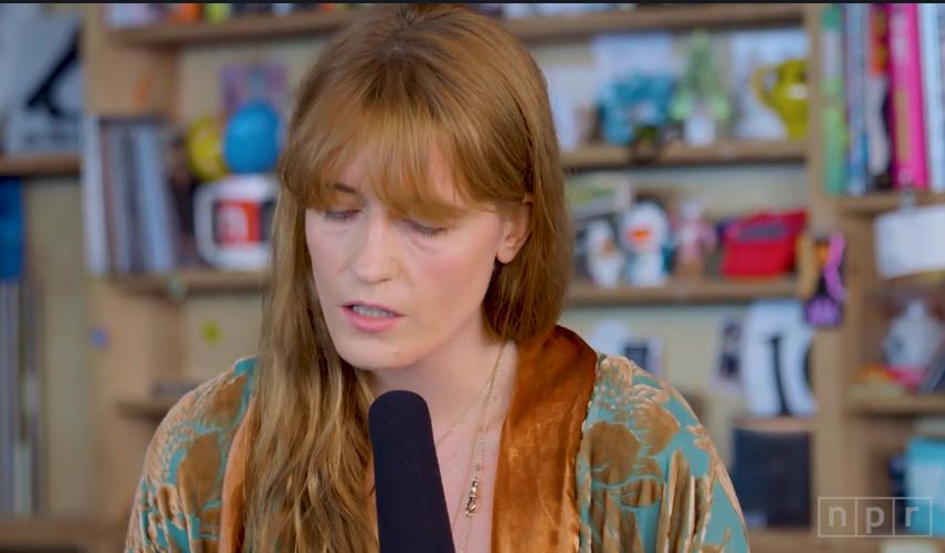 "GYVAI: Florence + The Machine projekte ""Tiny Desk"""