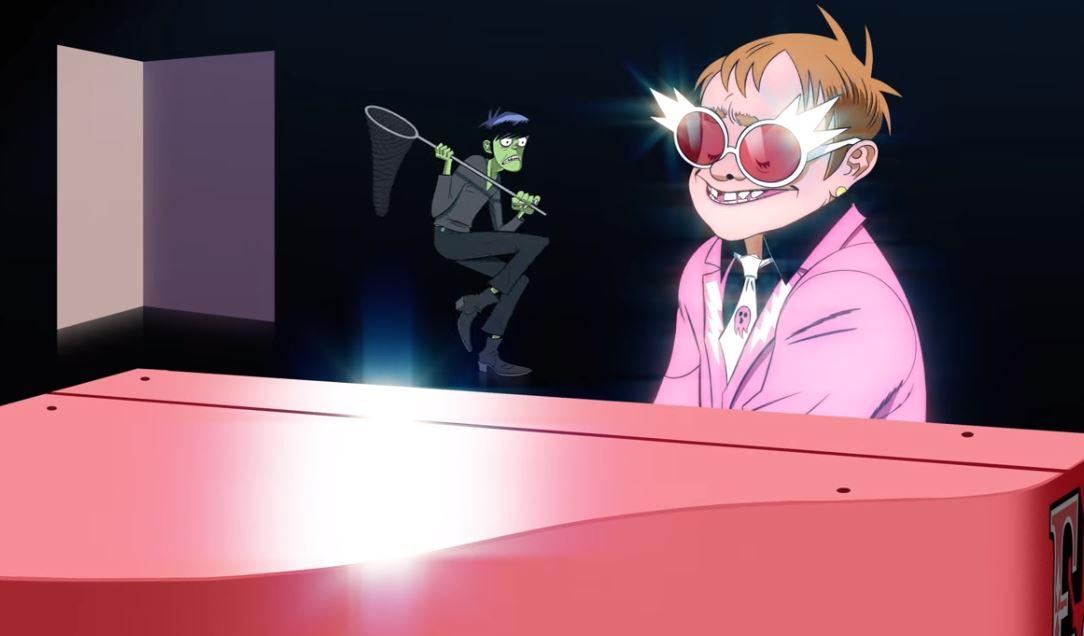 "Nauja ""Gorillaz"" daina – su legendiniu Eltonu Johnu"